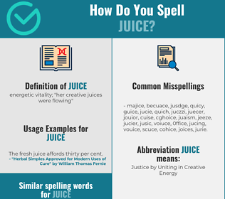 Correct spelling for juice