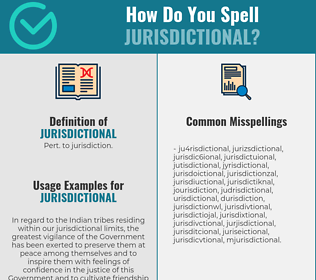 Correct spelling for jurisdictional