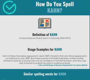 Correct spelling for kahn