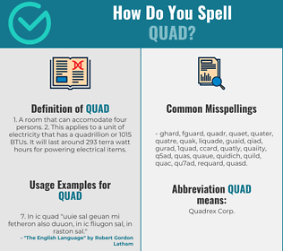 Correct spelling for quad