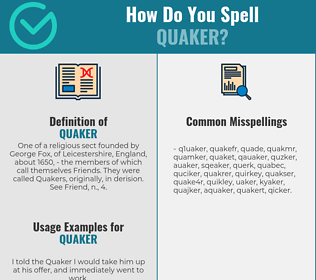 Correct spelling for quaker