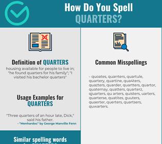 Correct spelling for quarters
