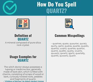 Correct spelling for quartz