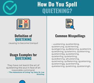 Correct spelling for quietening