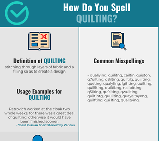 Correct spelling for quilting