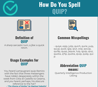 Correct spelling for quip