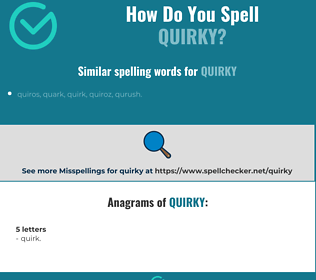 Correct spelling for quirky