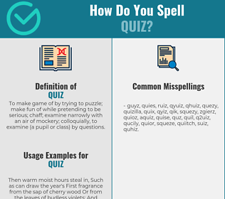 Correct spelling for quiz