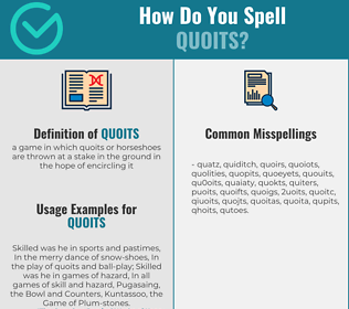 Correct spelling for quoits