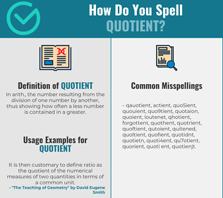 Correct spelling for quotient