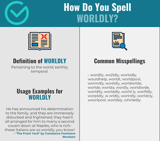 Correct spelling for worldly