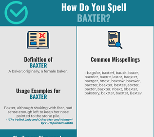 Correct spelling for Baxter