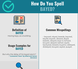 Correct spelling for Bayed