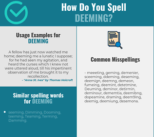 Correct spelling for Deeming
