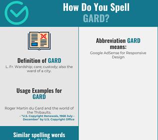 Correct spelling for Gard
