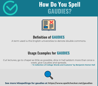 Correct spelling for Gaudies