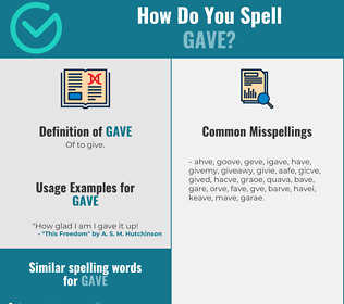 Correct spelling for Gave