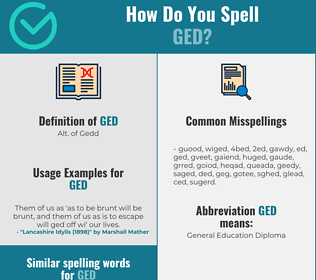 Correct spelling for Ged