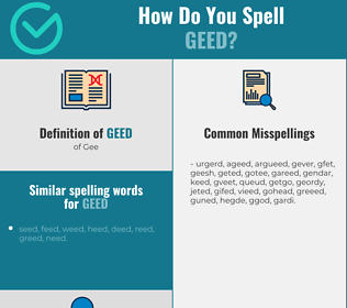 Correct spelling for Geed