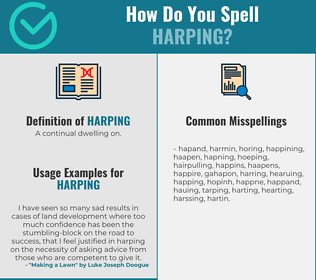 Correct spelling for Harping