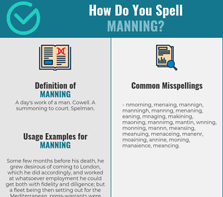 Correct spelling for Manning