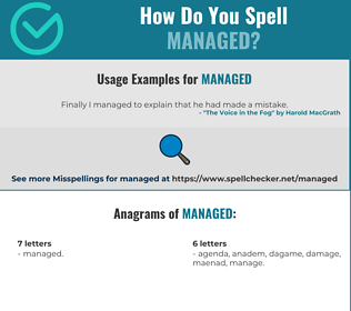 Correct spelling for Managed