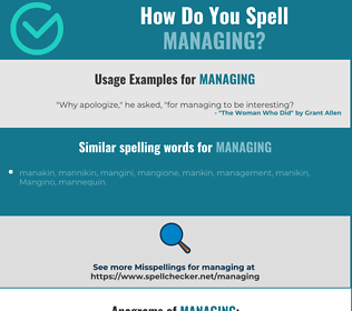 Correct spelling for Managing