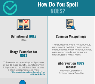 Correct spelling for Noes