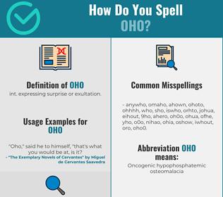 Correct spelling for Oho