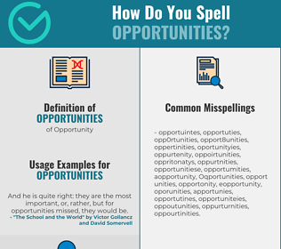 Correct spelling for Opportunities