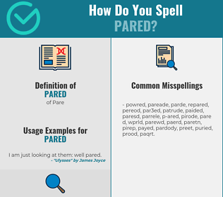 Correct spelling for Pared