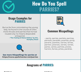 Correct spelling for Parries