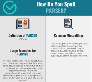 Correct spelling for Parsed