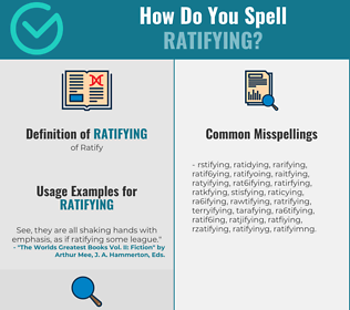 Correct spelling for Ratifying