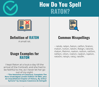 Correct spelling for Raton