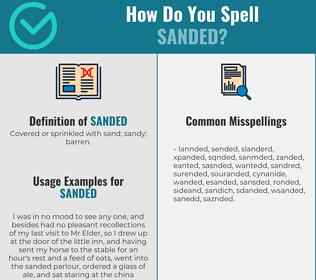 Correct spelling for Sanded