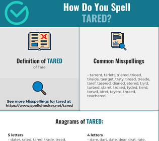 Correct spelling for Tared