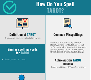 Correct spelling for Tarot