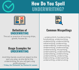 Correct spelling for Underwriting