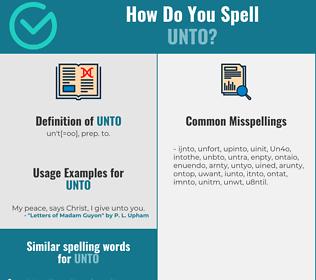 Correct spelling for Unto