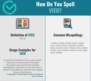 Correct spelling for Vied