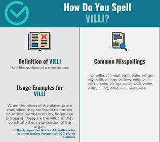 Correct spelling for Villi