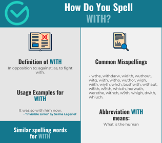 Correct spelling for With