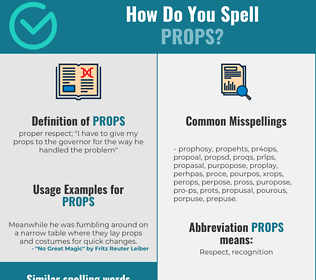 Correct spelling for props
