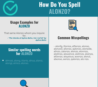 Correct spelling for Alonzo