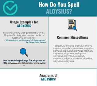 Correct spelling for Aloysius