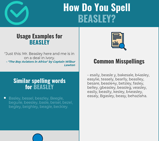 Correct spelling for Beasley