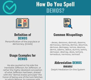 Correct spelling for Demos
