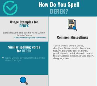Correct spelling for Derek