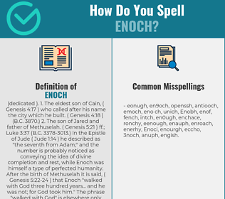 Correct spelling for Enoch